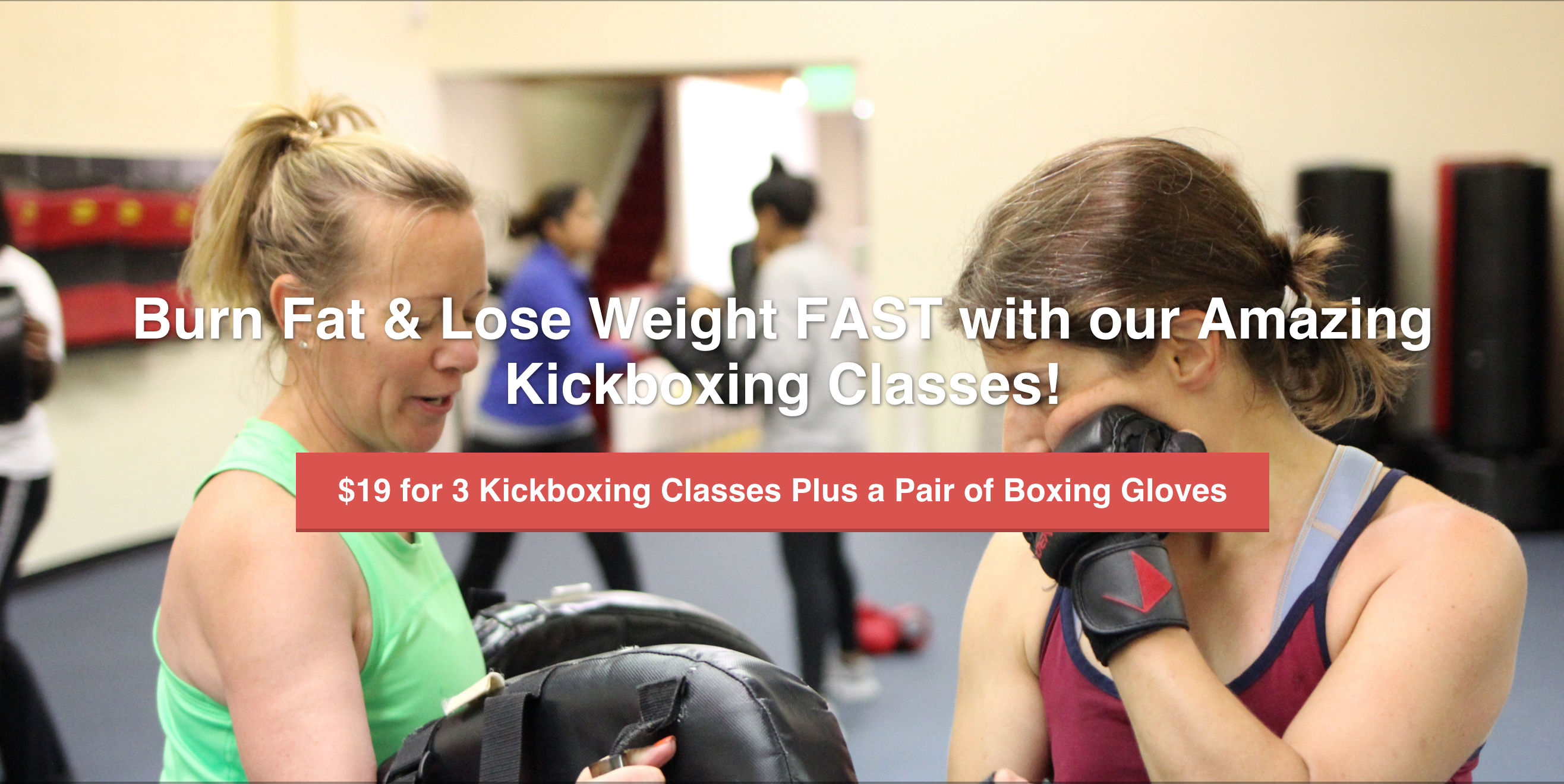 3 Kickboxing Classes and Free Gloves $19.95